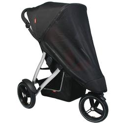 Phil & Teds SMM, Smart UV Mesh Cover For Single Smart Stroller - Black