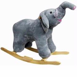 Charm Company 81135 Ernest Plush Rocking Gray Elephant