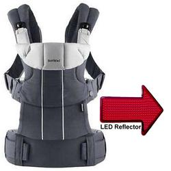 Baby Bjorn 095038US Comfort Carrier with LED Safety Reflector Light - Anthracite