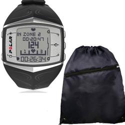 Polar FT60 Heart Rate Monitor 99041402, Female Black with FREE Cinch Bag