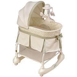 Kolcraft KB043-BNT1 Cuddle 'n Care® Rocking Bassinet With Light Vibes® Mobile, Bennett