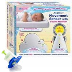 BebeSounds AngelCare AC-201 Kit Baby Movement Sensor and Sound Monitor with KidzMed 5005 Medicine Dispenser