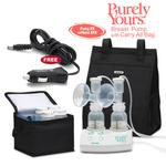 Ameda 17077KIT7, Purely Yours Breast Pump Combo# 7, with Carry All Bag, and a Free Ameda Vehicle Lighter Adapter