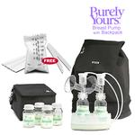 Ameda 17075KIT4, Combo #4 Purely Yours Breast Pump, with Back Pack, Free Ameda Milk Storage Bags - 20 ct box