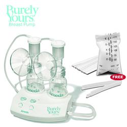 Ameda 17070KIT4, Purely Yours Breastpump Combo# 4 with One Free Box of Ameda Milk Storage Bags - 20 ct box
