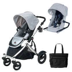 Britax U281774KIT1, B-Ready Stroller and Silver 2nd Stroller Seat - Silver