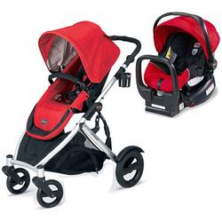 Britax U281771KIT2, B-Ready Stroller and Chaperone Infant Carrier/Child Seat - Red