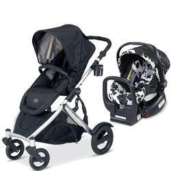 Britax U281772KIT2, B-Ready Stroller and Chaperone Infant Carrier/Child Seat in Cowmooflage - Black