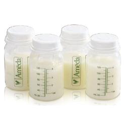 Ameda 17244 Breast Milk Storage Bottles 4oz. 4pk