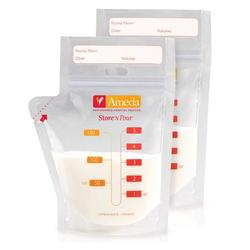 Ameda 17243 Store N Pour Breast Milk Storage Bags, 40 ct