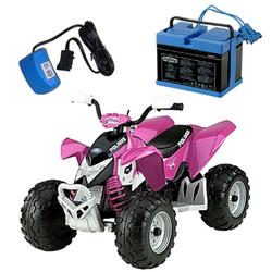 Peg Perego IGOR0045KIT, Pink Polaris Outlaw Ride On Toy Kit - Pink