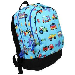 Wildkin 14079 Olive Kids Trains, Planes & Trucks Backpack