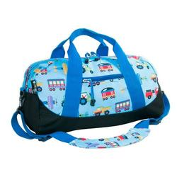 Wildkin 25079 Olive Kids Trains, Planes & Trucks Duffel Bag