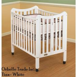 Orbelle 1144W Tian Three Level Portable Crib - White