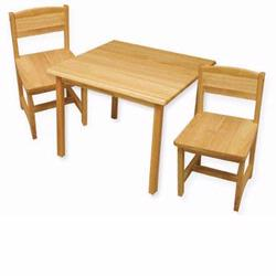 KidKraft 21221 Aspen Table & 2 Chairs, Natural