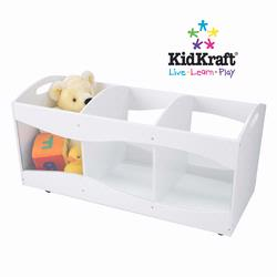 KidKraft 15770 See-Through Storage Bin, White