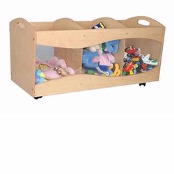 KidKraft 15771 See-Through Storage Bin, Natural