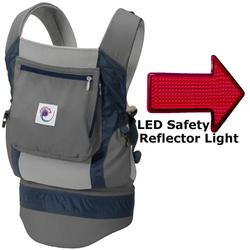 Ergo Baby BCP03405, Performance Carrier With a LED Safety Reflector Light - Grey
