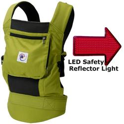 Ergo Baby BCP32300LED, Performance Carrier With a LED Safety Reflector Light  - Spring Green