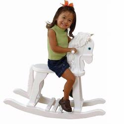 KidKraft 19601 Derby Wooden Rocking Horse, White
