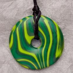 Teething Bling PEN-MCDON Baby Teething Pendant, Malachite