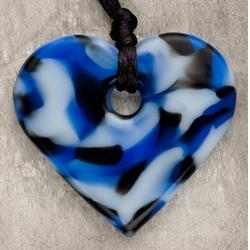 Teething Bling HPEN-BHRT BabyTeething Heart Pendant, Blue Camouflage