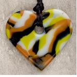 Teething Bling HPEN-TCHRT Baby Teething Heart Pendant, Tan Camouflage