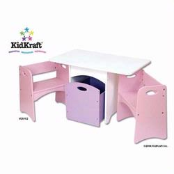 KidKraft 26162 Table with Pastel Benches