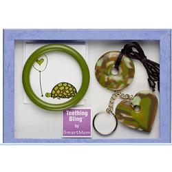 Teething Bling GSPEN-GFSET2 Baby Teething Gift Set, Green Camouflage