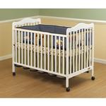 Orbelle Emma 372W Crib w/Toddler rail Guard - White