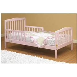 Orbelle - 401P Solid Wood Toddler Bed - Pink