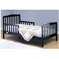 Orbelle - 401BK Solid Wood Toddler Bed - Black