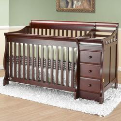 Orbelle 315C Crib & Bed Michelle with Changer and/or Nightstand- Cherry