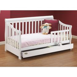 Orbelle 3141W Toddler Bed w/ Storage drawer, White