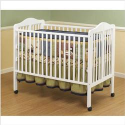 Orbelle 374W Lisa Three Level Full Size Folding Crib - White