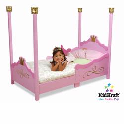 KidKraft 76121 Princess Toddler Cot