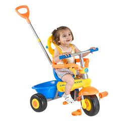 Smart Trike 1291300 Classic, 3 in 1 multi features Tricycle - Blue,Orange,Yellow