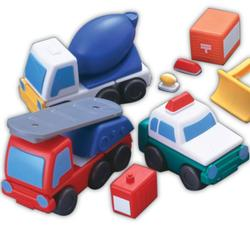 Magna-Tiles  98127 Working Trucks - 27 pc. set, Magnetic Combination Vehicles