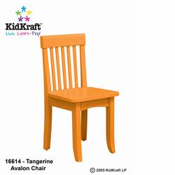 KidKraft 16614 Avalon Chair, Tangerine