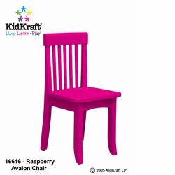 KidKraft 16616 Avalon Chair, Raspberry