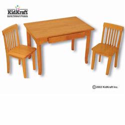 KidKraft 26641 Avalon Table and 2 Chair Set, Honey