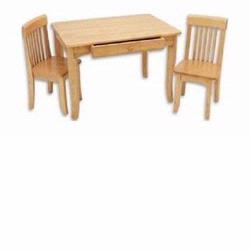 KidKraft 26621 Avalon Table and 2 Chair Set, Natural