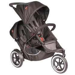 Phil & Teds C7KIT  Classic  Stroller with Double Kit - Black