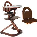 Scandinavian Child Svan Signet Complete High Chair  Mahogany Finish With Chocolate Cushion
