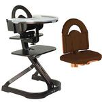 Scandinavian Child Svan Signet Complete High Chair Espresso Finish With Chocolate Cushion