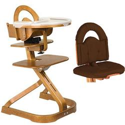 Scandinavian Child Svan Signet Complete High Chair Cherry Finish With  Chocolate Cushion
