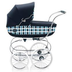 Inglesina CLASS11BTB Classica Pram with Diaper Bag and Raincover - Arglye Blue