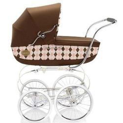 Inglesina CLASS11BTR Classica Pram with Diaper Bag and Raincover - Arglye Pink