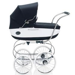 Inglesina CLASS11VER Classica Pram with Diaper Bag and Raincover - Navy/White