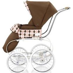 Inglesina CLASS116BTR Classica Stroller with Hood and Frame - Arglye Pink